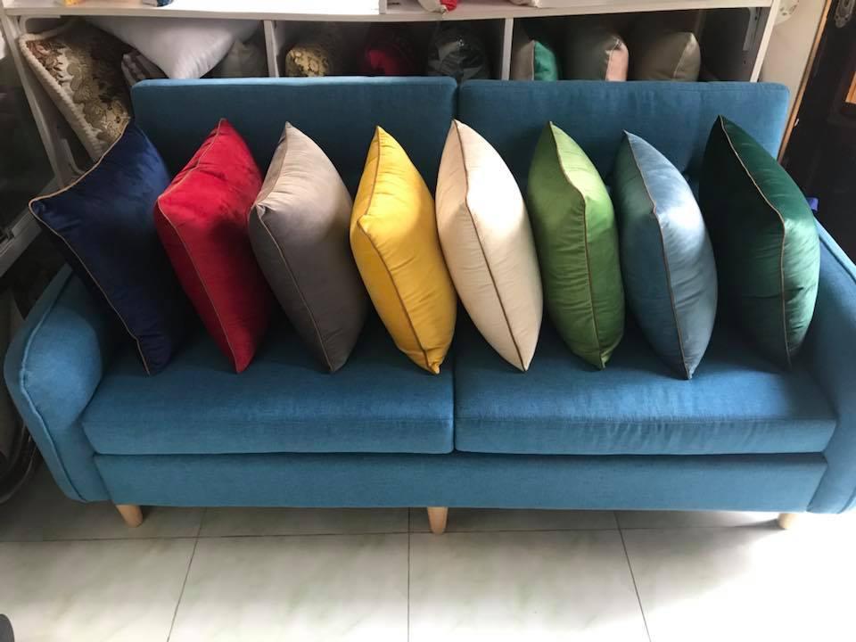 gối trang trí, gối tựa lưng, gối sofa
